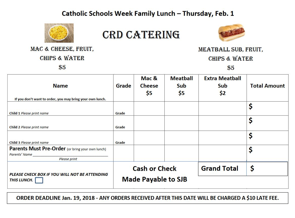 Catholic Schools Family Lunch Form.JPG